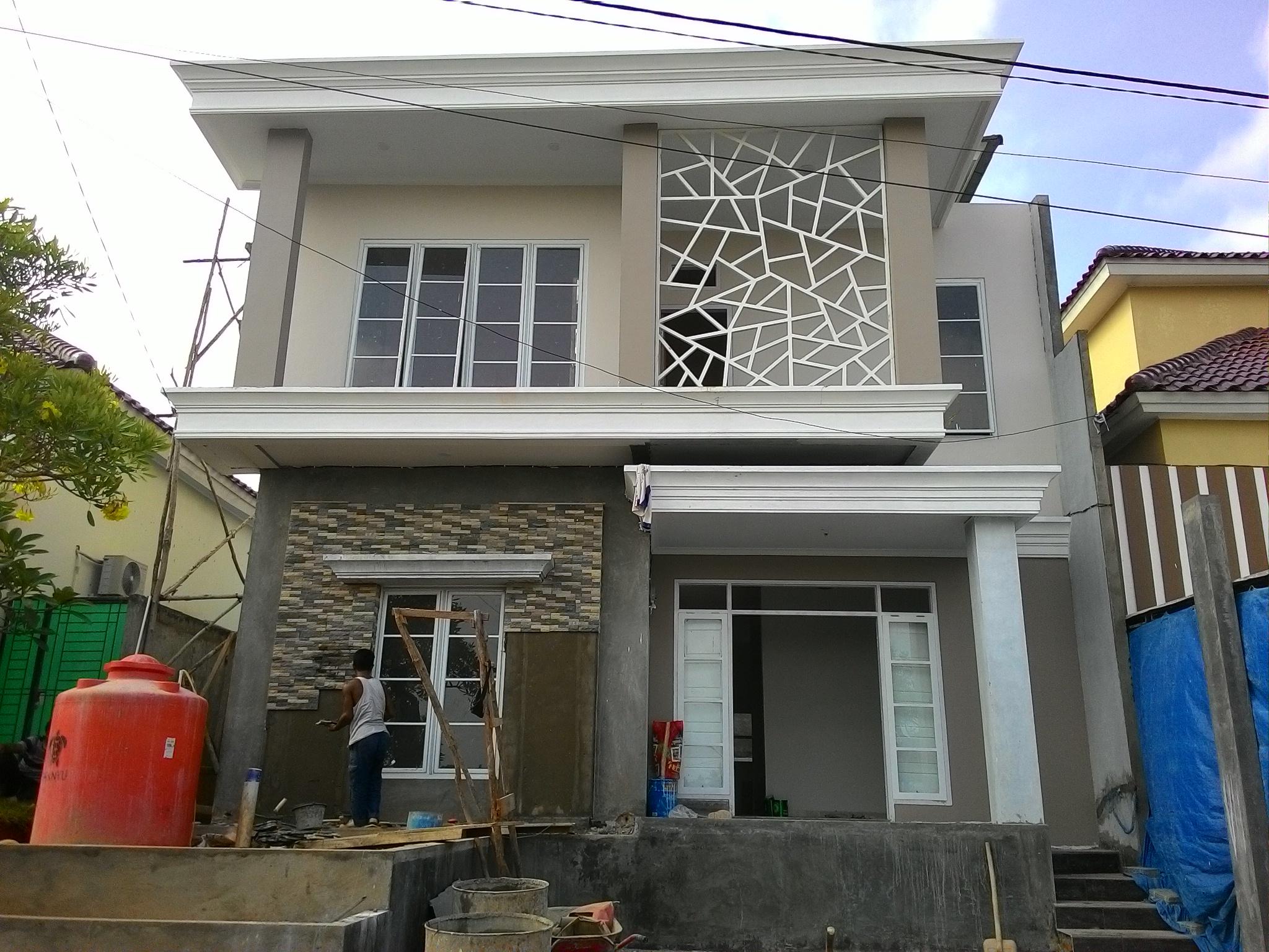 Pengerjaan pembangunan rumah