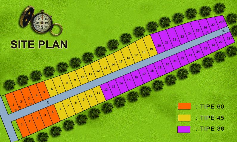 Site Plan Borobudur Residence
