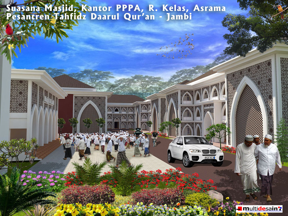 Suasana Kantor Masjid Kelas Daarul Quran Jambi