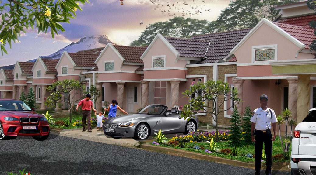 Desain Rumah Mewah Dengan Biaya Murah  garden village rumah klasik mewah harga murah