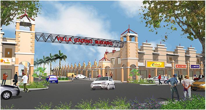 Desain Gerbang Depan Villa Gading Mayang