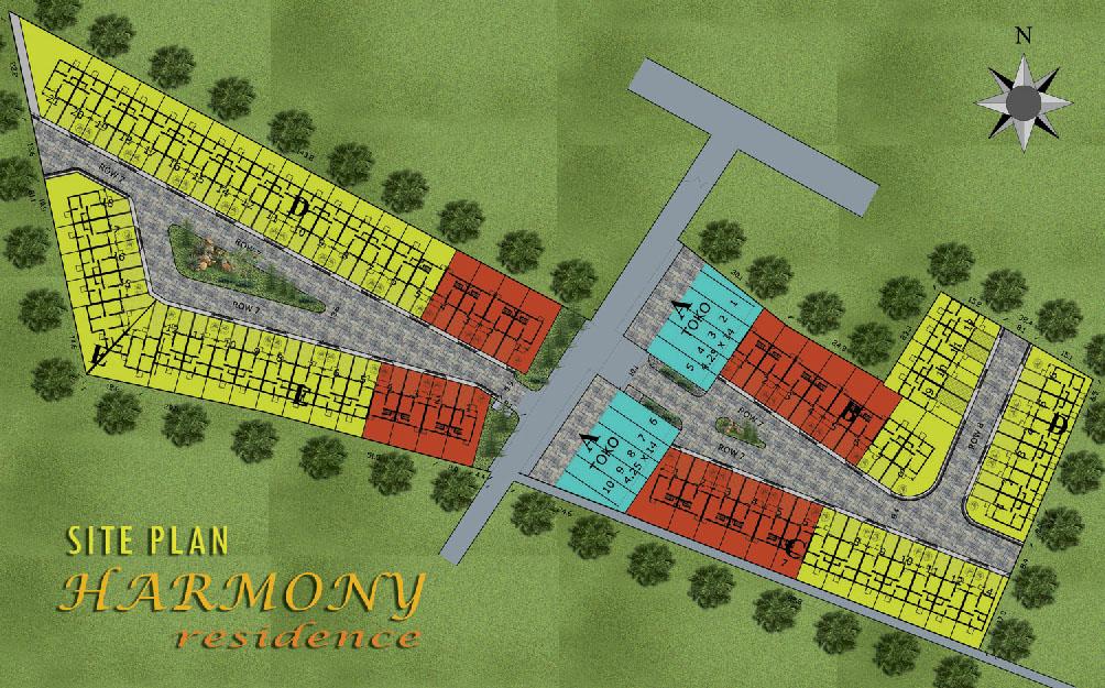 Site Plan Harmony Residence