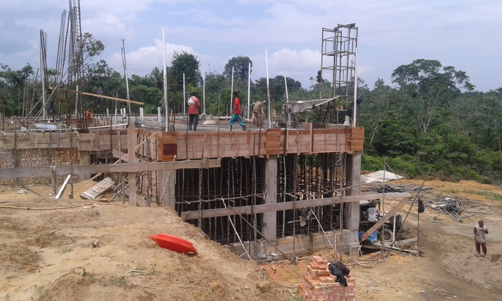 Basement gedung asrama 4 lantai in progress