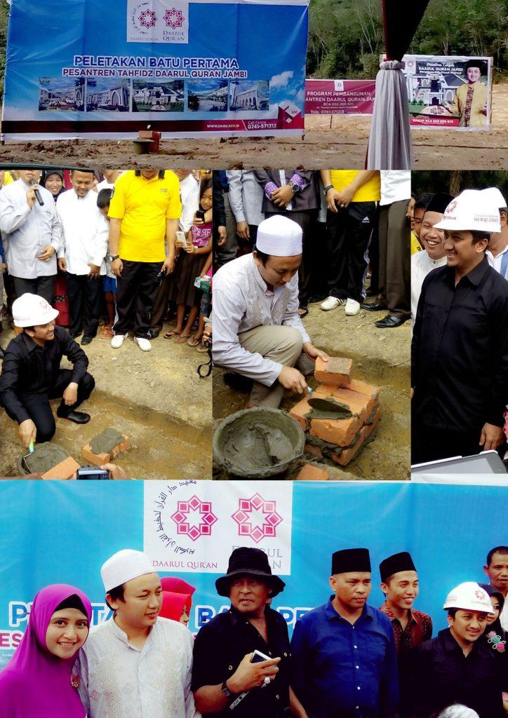 Peletakan Batu Pertama Pesantren Tahfidz Daarul Qur'an Jambi - NOvember 2014