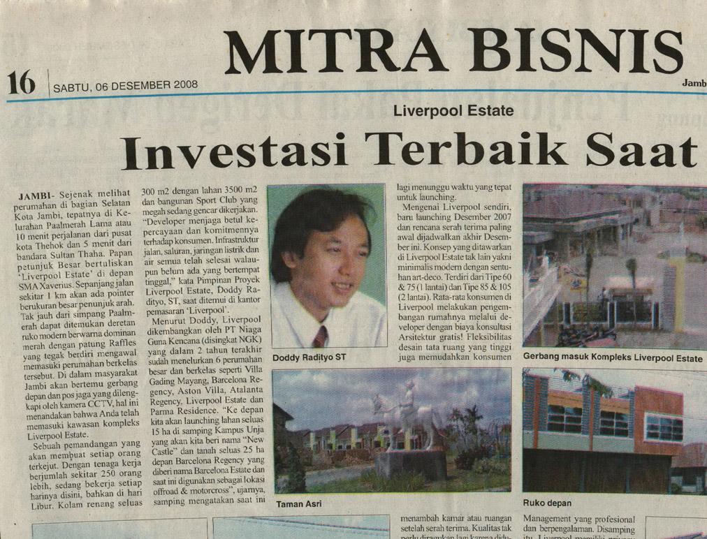 Mitra Bisnis  Jambi Independent 2008