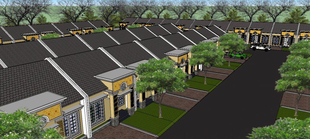 View 13:  Royal PEsona Residence mengusung konsep green environtment dengan luas fasum dan taman hingga 7.300 m2 (64%)