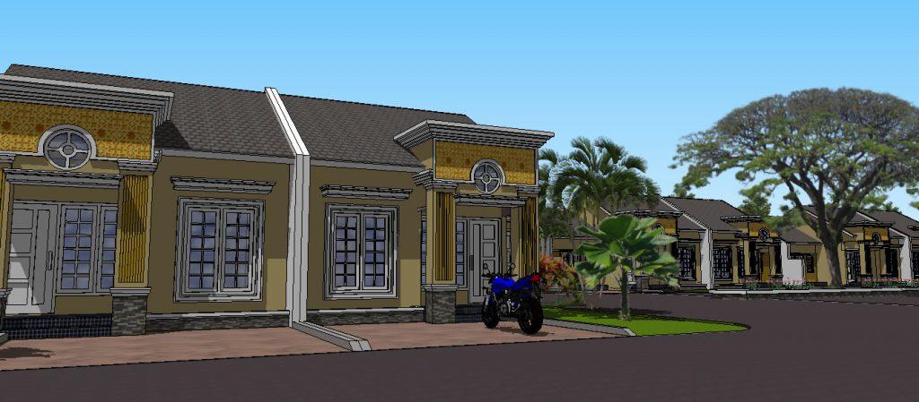 View 19:  Konsep Cluster (pagar tertutup) dengan One Gate System (satu pintu gerbang) membuat warga merasa aman walaupun rumah tidak dipagar