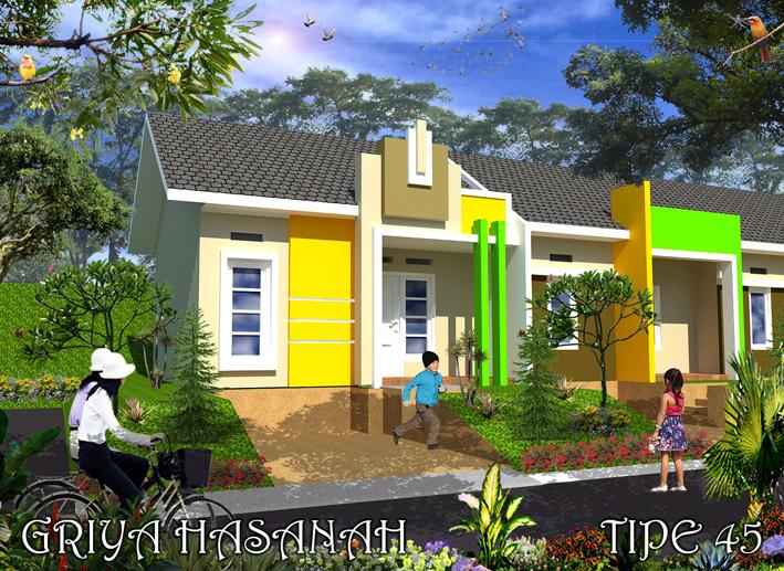 Desain Tipe 45 Griya Hasanah