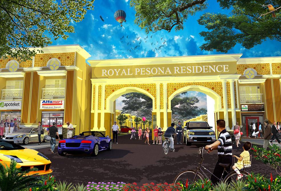Desain Gerbang Royal Pesona Residence Madiun