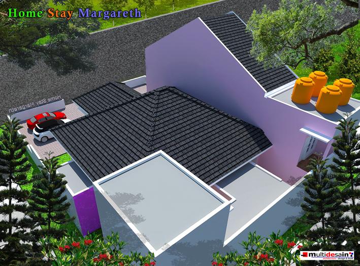 Bagian belakang difungsikan sebagai tempat cuci, jemuran dan ruang tidur penjaga