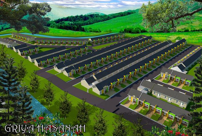 Desain Site Plan yang mengakomodasi view yang indah di setiap rumahnya.