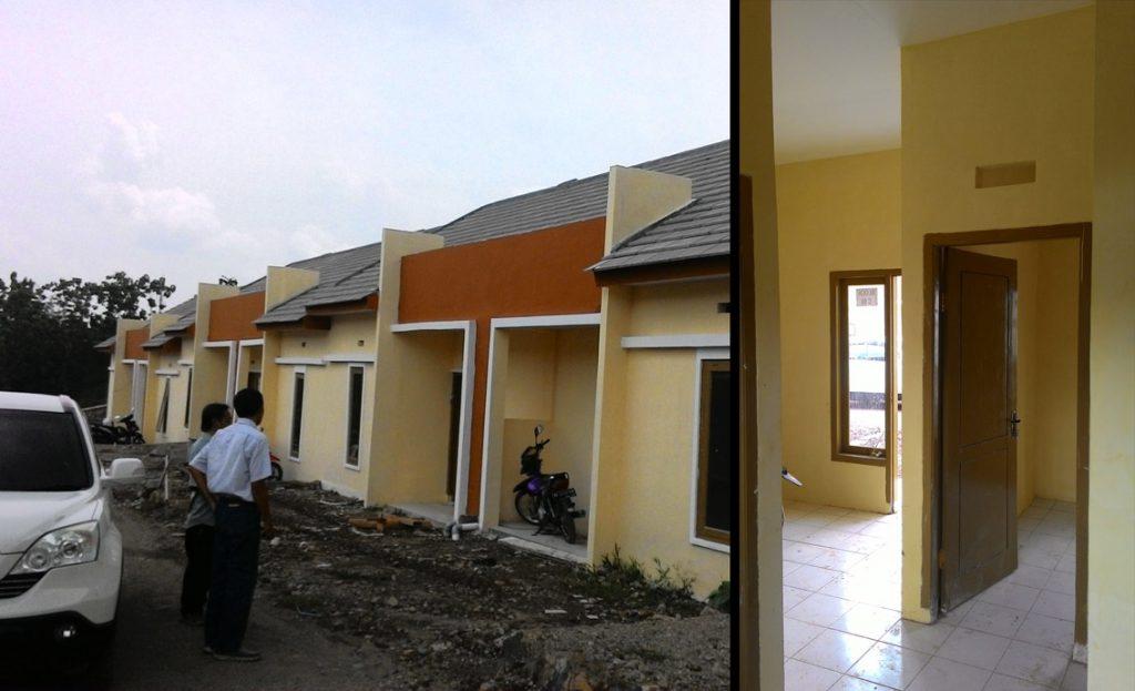 Foto Kiri: Kunjungan Proyek, Kanan: Interior rumah FLPP