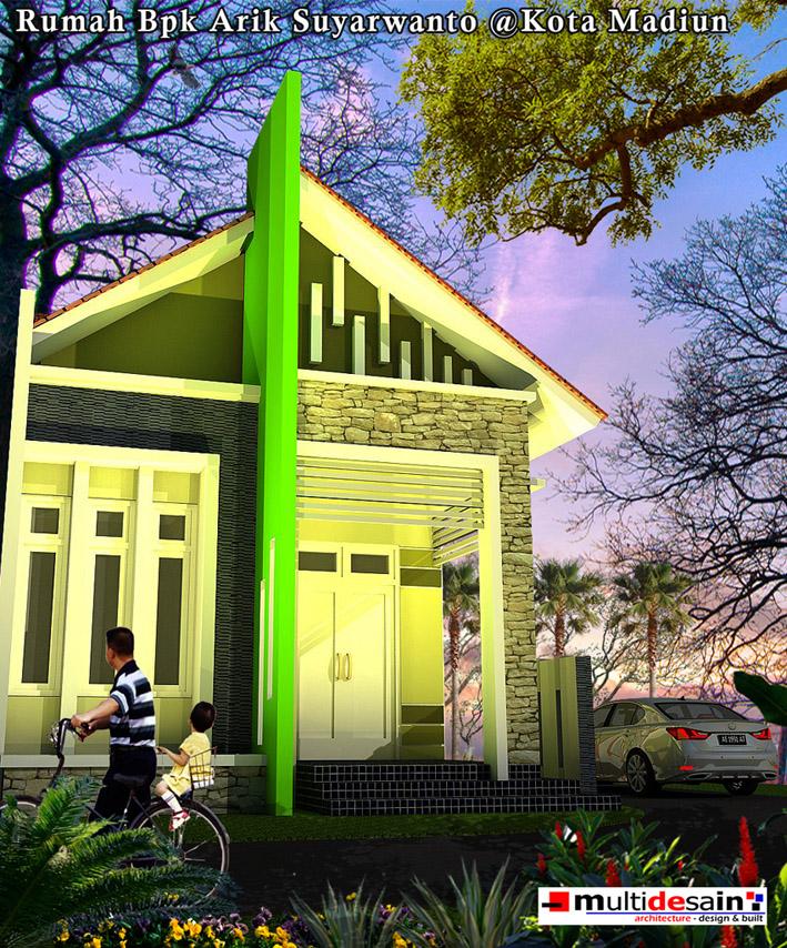 Tampak Depan Rumah Minimalis Modern Bpk Arik