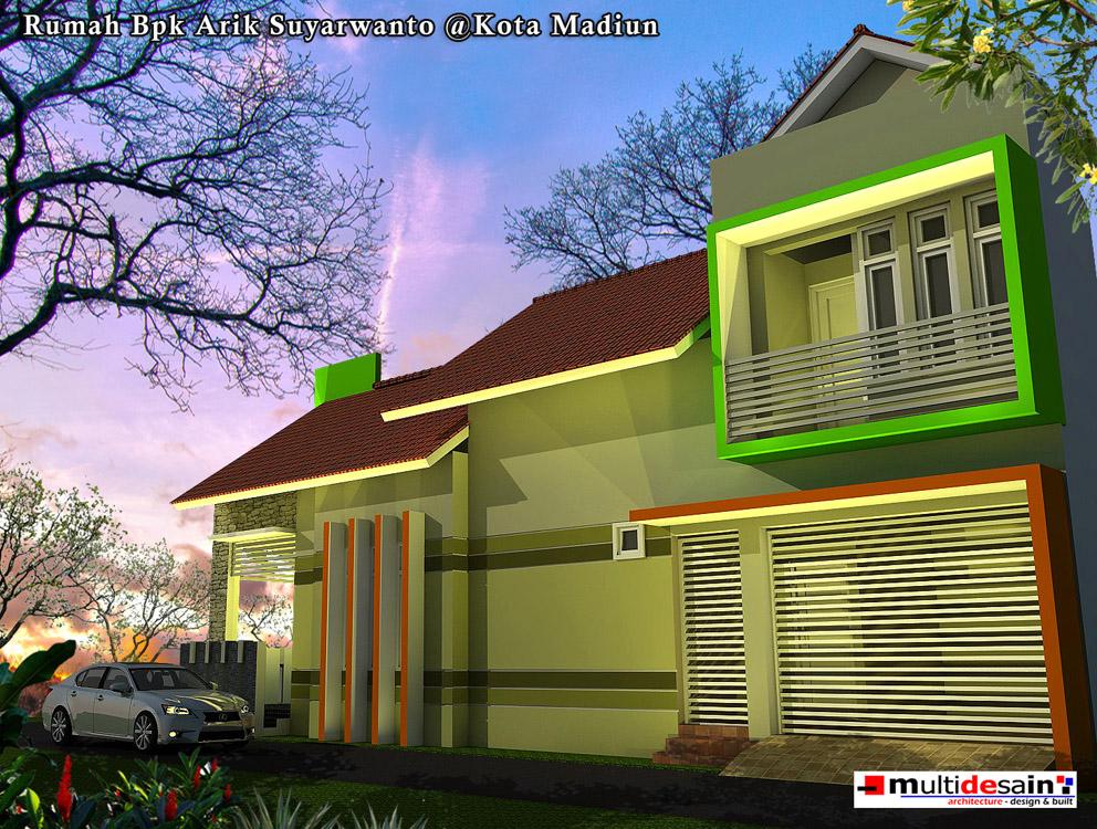 Tampak Samping Rumah Minimalis Modern Bpk Arik