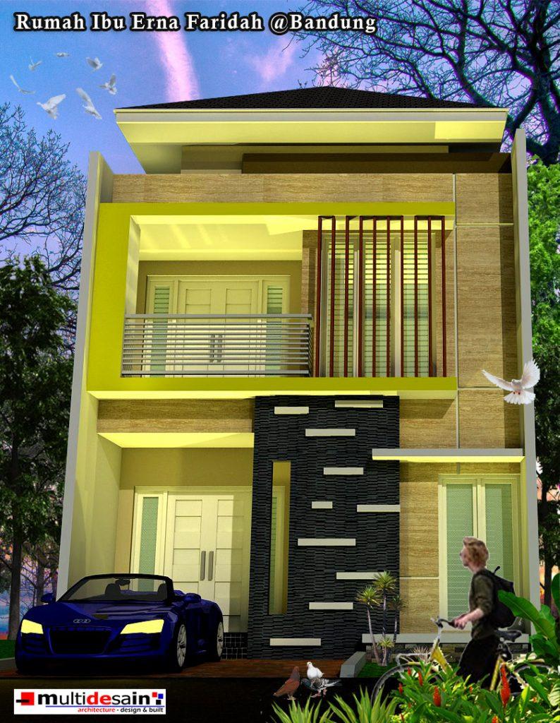 Tampak depan Rumah Minimalis 2 Lantai di Bandung