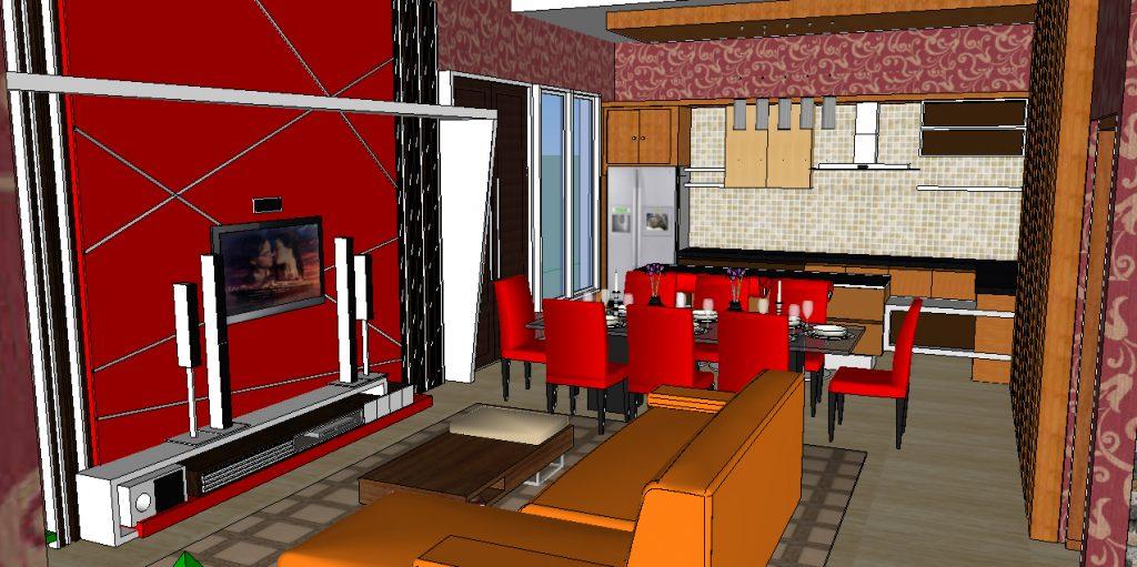 View Ruang Keluarga dan Ruang Makan