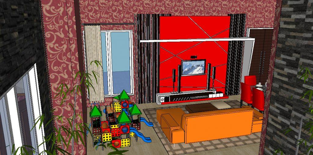 View Ruang Keluarga dan Ruang Main