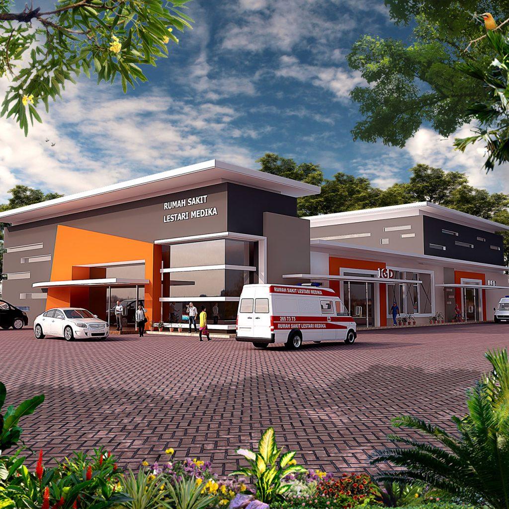 Desain Tampak Depan Rumah Sakit Lestari Husada Madiun