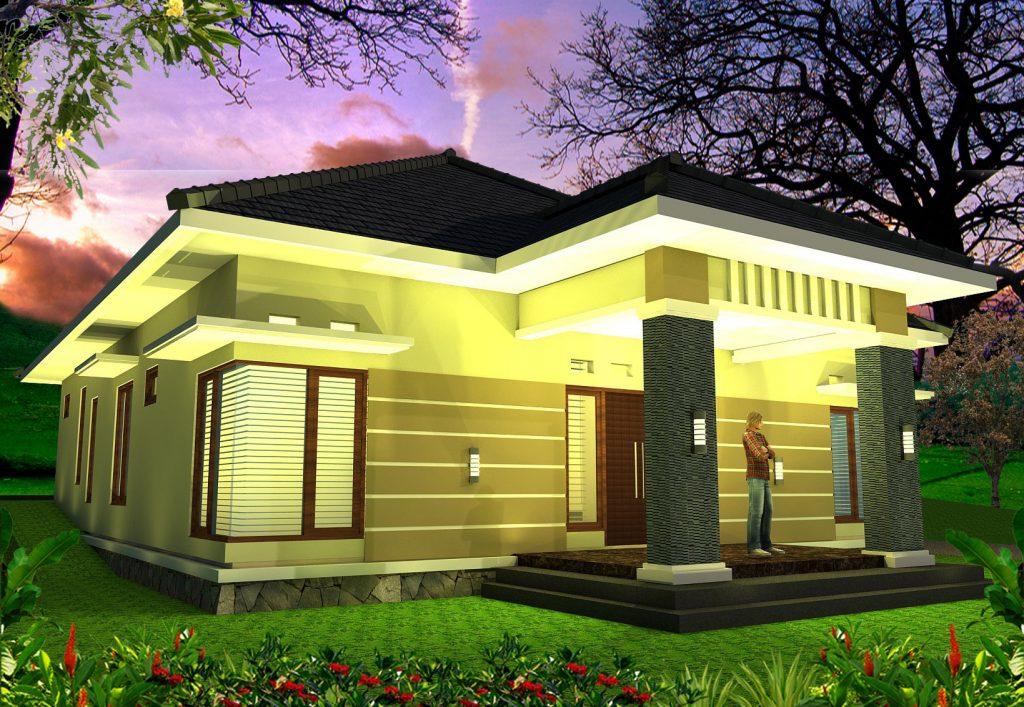 Rumah Tinggal Minimalis Modern Rumah Makan Caping Gunung