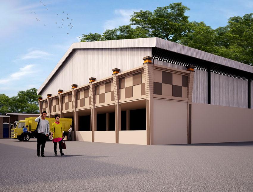 Desain Gedung Pabrik Es