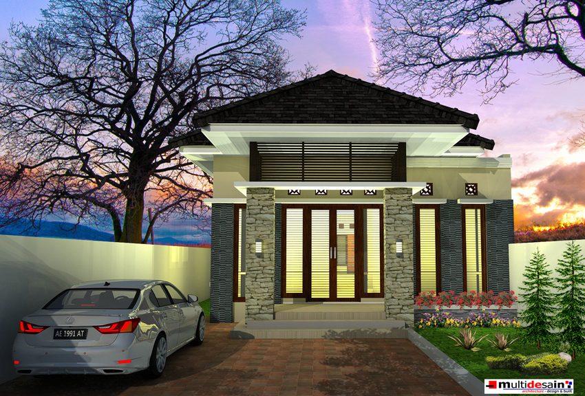 desain rumah tinggal minimalis bpk hamim multidesain arsitek