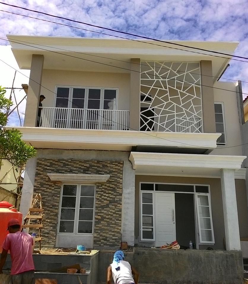 Progress 100% Pembangunan rumah Bpk dr. Fakhrurrazi. Didesain dan dibangun oleh Multi Desain Arsitek (2015)