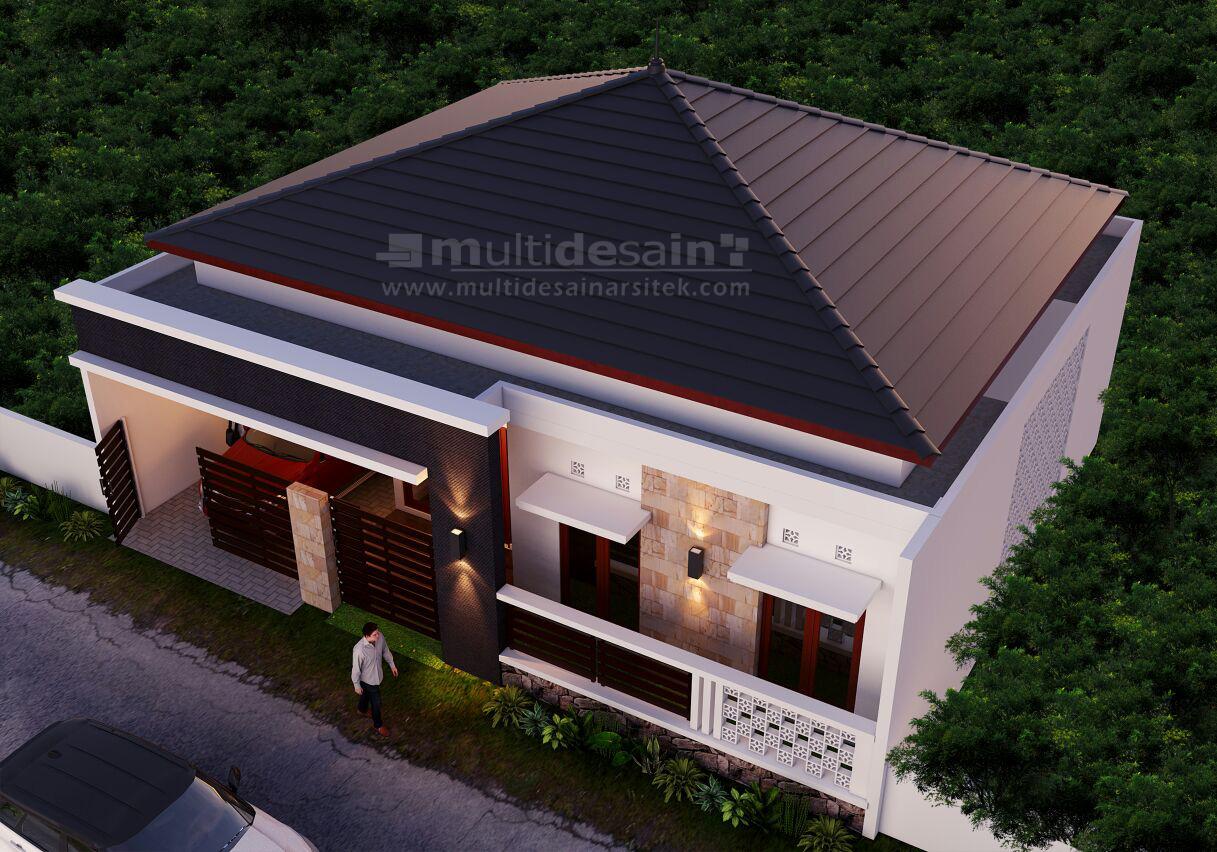 Desain Rumah Minimalis 1 Lantai Bu Dyah Multidesain Arsitek