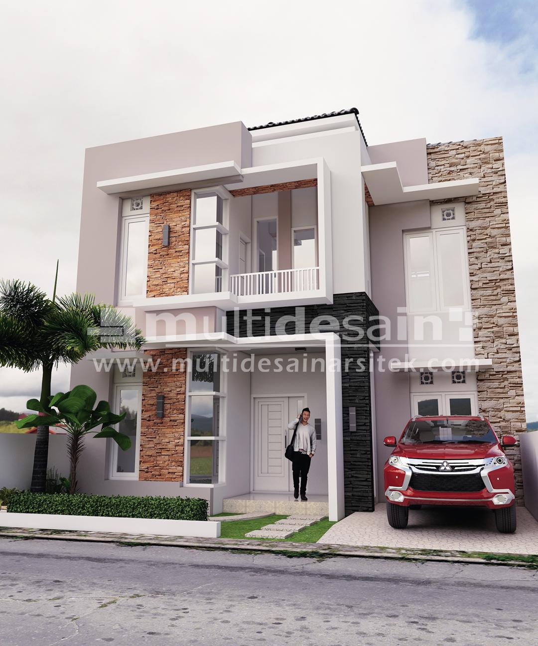 Rumah Minimalis Modern 2 Lantai Bpk Puryadi Multidesain Arsitek