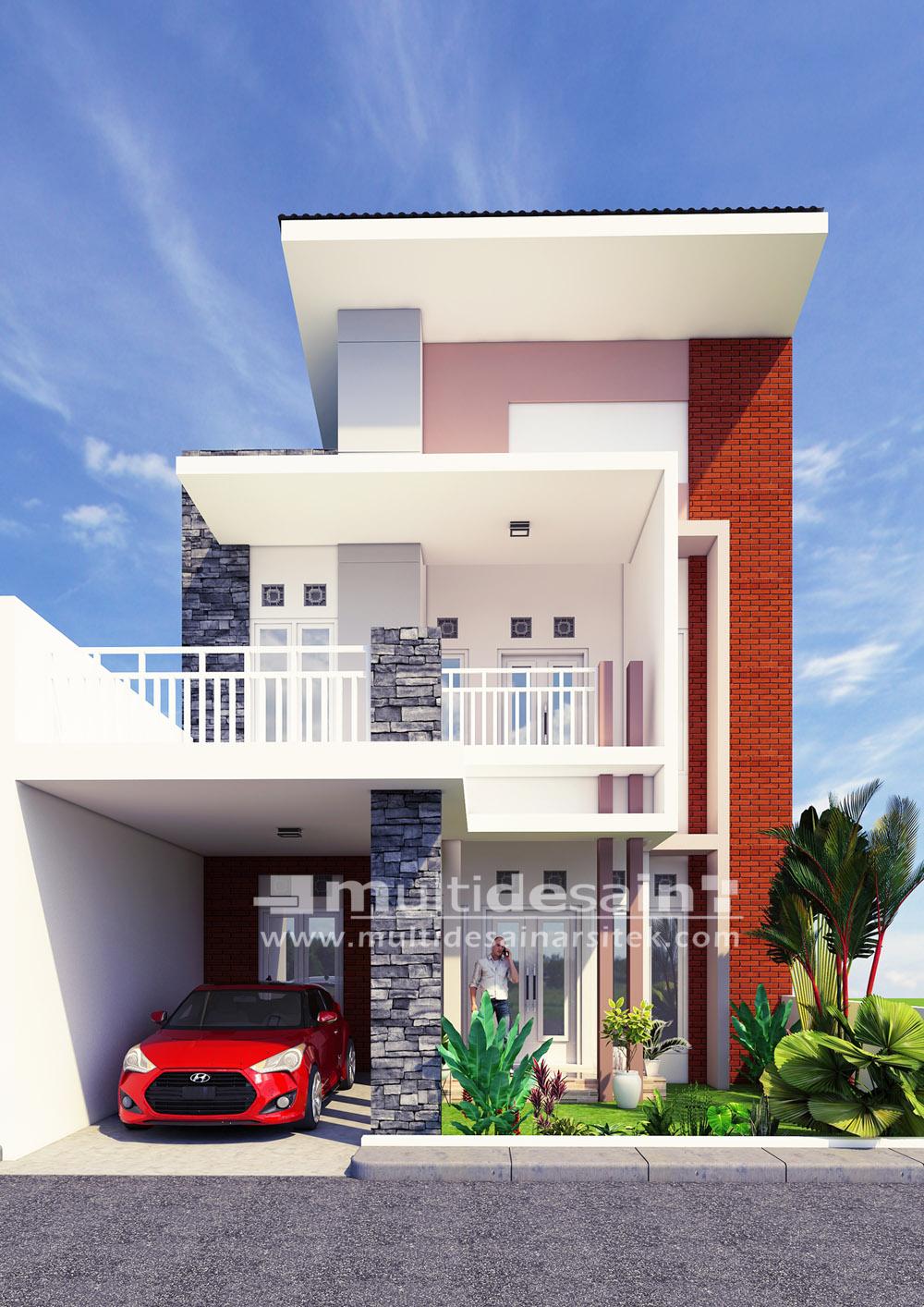 Rumah Minimalis Modern 2 Lantai Di Surabaya Multidesain Arsitek