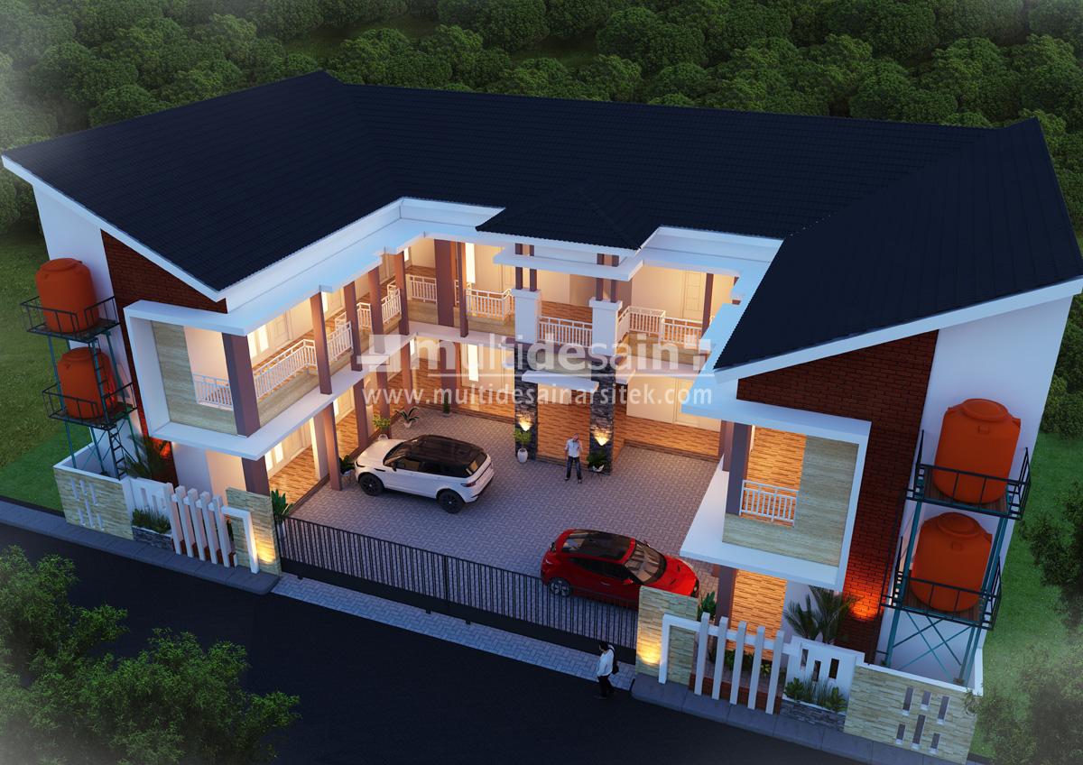 Rumah Kos 2 Lantai Di Madiun Multidesain Arsitek