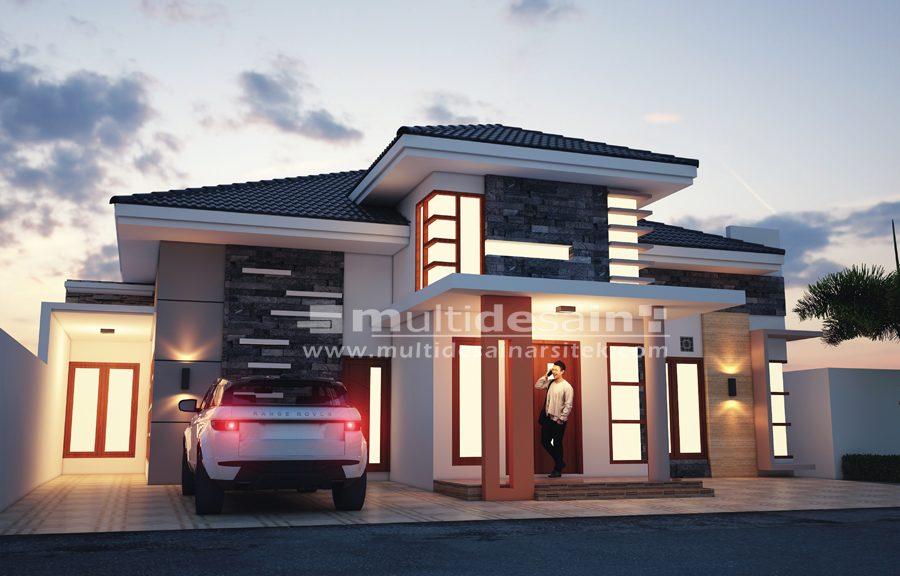 Desain Eksterior Rumah Mewah 1 Lantai  desain rumah 1 lantai multidesain arsitek