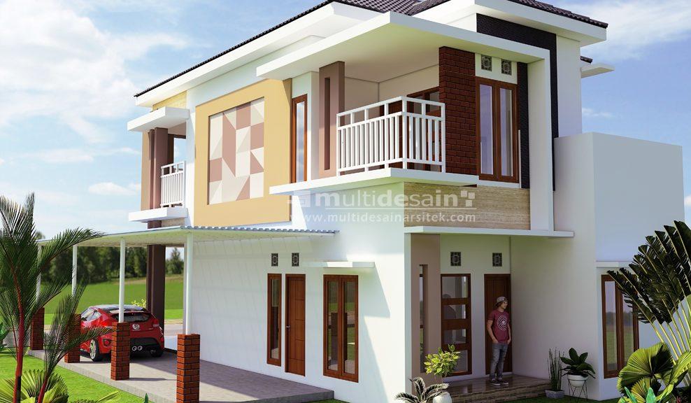 Rumah Minimalis Modern 2 Lantai Bpk Yayat Multidesain Arsitek