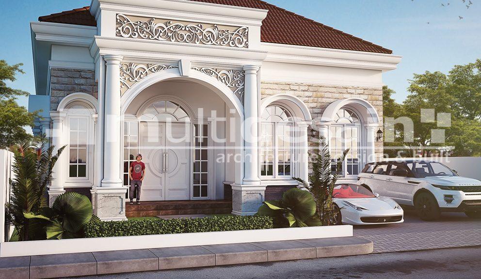 Rumah Klasik Mediteran 1 Lantai Di Nabire | MultiDesain Arsitek